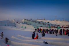 Harbin, Chine - 9 février 2017 : La glace internationale de Harbin et le festival de sculpture sur neige est un festival annuel d Images stock