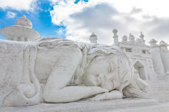 Harbin, Chine - février 2013 : Sculpture sur neige internationale Art Expo Photos libres de droits