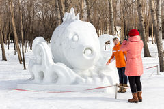 Harbin, Chine - février 2013 : Sculpture sur neige internationale Art Expo Photographie stock
