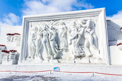 Harbin, Chine - février 2013 : Sculpture sur neige internationale Art Expo Images stock