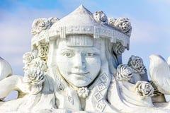 Harbin, Cina - febbraio 2013: Scultura di neve internazionale Art Expo Immagine Stock Libera da Diritti