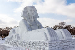 Harbin, Cina - febbraio 2013: Scultura di neve internazionale Art Expo Immagini Stock