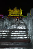Harbin Golden Palace Ice Sculpture Royalty Free Stock Image