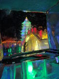 Harbin Ice festival China. Chinas Heilongjiang province.  Snow and Ice Festival. sculpture, ice castle and slides Stock Photos