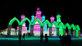 Harbin Ice Festival sculpture. 2016 China stock photography