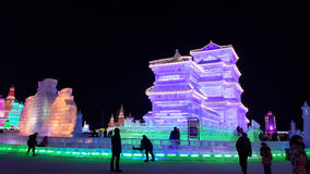 Harbin Ice Festival sculpture. 2016 China royalty free stock image
