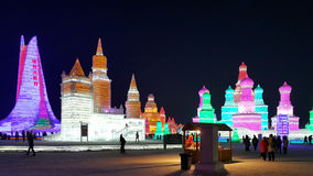 Harbin Ice Festival sculpture. 2016 China stock image