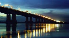 Harbin Songhua River Bridge Night. Eastphoto, tukuchina,  Harbin Songhua River Bridge Night Stock Photo
