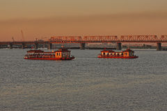 Harbin Songhua River in Heilongjiang Province Royalty Free Stock Photography