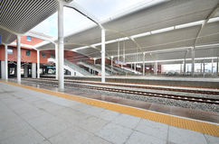 Harbin West Railway Station. This picture shows the platforms of Harbin West Railway Station royalty free stock image