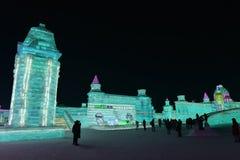 Harbin zawody międzynarodowi Lodowej i Śnieżnej rzeźby festiwal 2018 Zdjęcie Stock