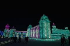 Harbin zawody międzynarodowi Lodowej i Śnieżnej rzeźby festiwal 2018 Obraz Royalty Free