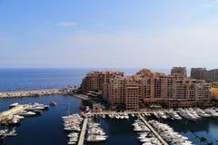 Harbo de Fontvieille en Mónaco Fotos de archivo libres de regalías