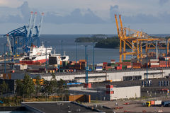 Harbor. New harbor area in Helsinki, Finland Royalty Free Stock Photography