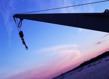 Harbor. On sunset Royalty Free Stock Image
