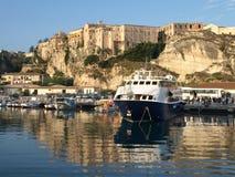 Harbor. Tropea waterfront, Calabria, Italy royalty free stock photo