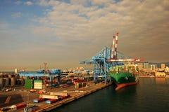 Harbor. Commercial harbor of Genoa, Italy Stock Image