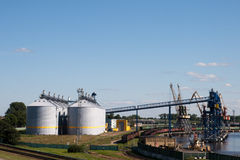 Harbor. Grain terminal in Latvia, Ventspils Stock Image