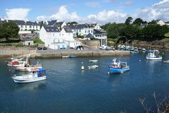 Harbor. Fishing harbor of Douelan in Brittany Stock Images
