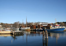 Harbor. A small harbor in Oslo, Norway royalty free stock photos