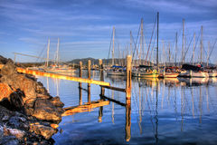 Harbor. View onto Coffs Harbour in Northern NSW, Australia Royalty Free Stock Images