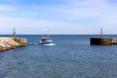 Harbor of Aalbæk Stock Photo
