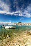 Harbor at Adriatic sea. Primosten Old Town, Croatia, touristic destination Stock Images