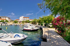 Harbor of adriatic village Petrcane Royalty Free Stock Image