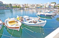 Harbor at Agios Nikolaos, Crete. Stock Photography
