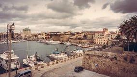Harbor of Alghero. The harbor in Alghero, Italy Royalty Free Stock Images