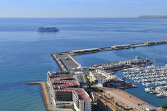 Harbor of Alicante Stock Images