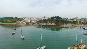 The harbor from Alvor Portugal stock video