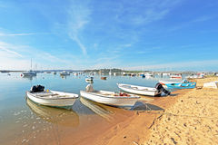 Harbor from Alvor in Portugal Stock Photography