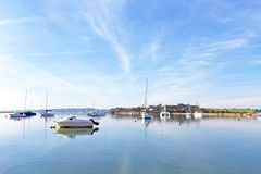 The harbor from Alvor in Portugal. The harbor from Alvor in the Algarve Portugal Royalty Free Stock Images