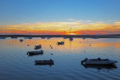 The harbor from Alvor in Portugal Royalty Free Stock Photography