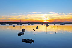 Harbor from Alvor in Portugal Royalty Free Stock Photos
