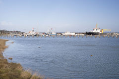 Harbor on Amrum Royalty Free Stock Photo