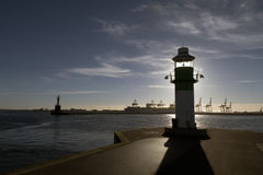 Free Harbor And Lighthouse In Aarhus Stock Photography - 81964812