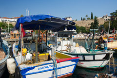 Harbor in Antalya Stock Images