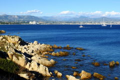 Harbor in Antibes - Cote'D azur, France Royalty Free Stock Photo