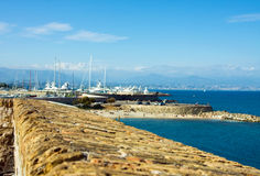 The harbor Antibes, France stock image