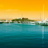 The harbor Antibes, France Stock Photos