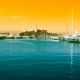 The harbor Antibes, France stock photos