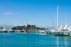 The harbor Antibes, France Royalty Free Stock Photo