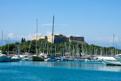 The harbor Antibes, France Royalty Free Stock Images