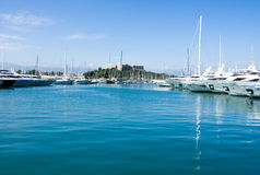The harbor Antibes, France Stock Photo