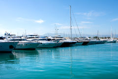 The harbor Antibes, France Stock Images
