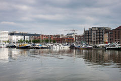 Harbor in Antwerp Royalty Free Stock Image
