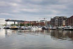 Harbor in Antwerp Royalty Free Stock Image