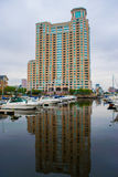 Harbor Area in Fells Point in Baltimore, Maryland stock image